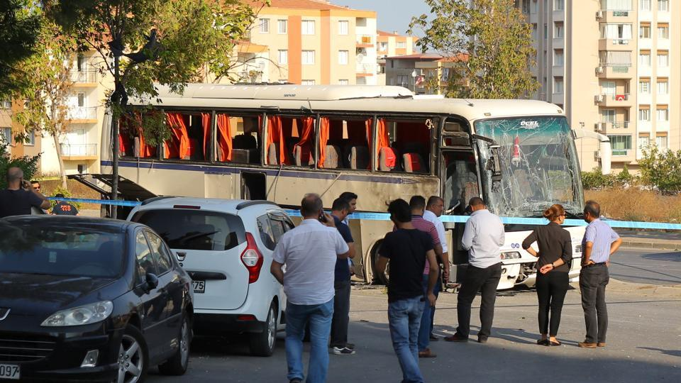Seven people were wounded when an explosion hit a shuttle bus carrying  prison guards in the Turkish coastal province of Izmir on Thursday, and  authorities ...